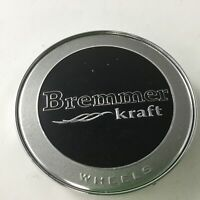 Bremmer Kraft Wheels Silver Black Center Cap BR4-2 BREMCAP2S C-195-1