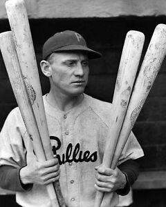 1933 Philadelphia Phillies CHUCK KLEIN Glossy 8x10 Photo Baseball Portrait