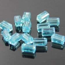 20pcs Swaro/vski  4x4x8mm Cuboid Crystal beads D Sky-blue