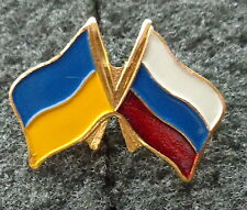 Ukraine RUSSIA FLAGS    PIN BADGE