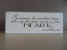 Shabby Winnie The Pooh quote plaque/sign, free standing chic and unique