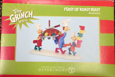 * FEAST OF ROAST BEAST  * Accessory Dept 56 Dr. Seuss  Grinch NEW  In Box