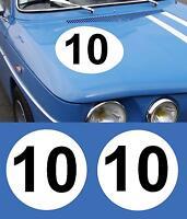 stickers  panneaux  de portes  2 x45cm+numeros o choix r5 r8 r12 gordini,alpine