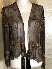 Marina Beaded  sequence silk jacket