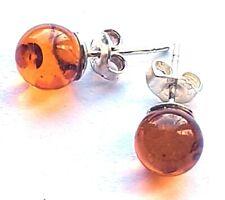 Vintage Baltic Amber Silver Earrings