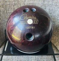 "Vintage Columbia 300 White Dot Purple/Red Swirl ""John"" 14.8 lb Bowling Ball"