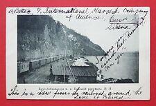 AK RUSSLAND 1906 Baikalsee mit Eisenbahn Wagen    ( 34444