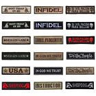 18 Pcs Set INFIDEL PUNISHER TACTICAL USA ARMY MORALE MILITARY BADGE PATCH