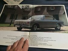 1966 1967 BMW 2000CS Coupe Color Brochure Catalog Prospekt