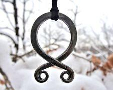 TROLL CROSS Forged Viking Pendant Necklace Odal Rune Vikings Pagan Asatru Jewel