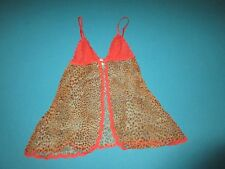 VICTORIA SECRET VERY SEXY Womens Red Leopard Lingerie Size Medium M