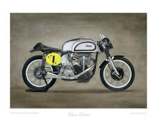 Manx Norton - Motorcycle Limited Edition Print - Fine Art Poster by Steve Dunn