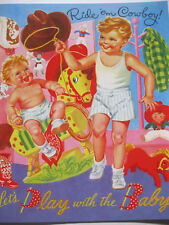 LET'S PLAY WITH THE BABY - Super Sweet Vintage Reproduction Paper Doll Book