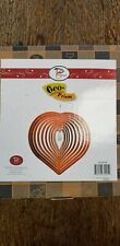Heart shaped Spiral Metal Garden Wind Spinner