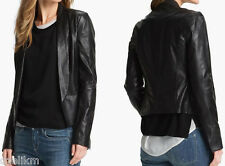 NWT $995 Vince Leather Open Blazer Jacket in Black Size 6