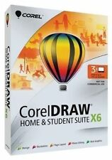 Corel CorelDRAW Home and & Student Suite X6 -3 Users Graphic Design Software App