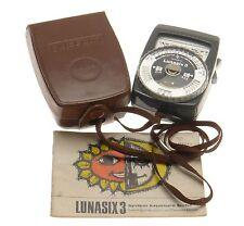 GOSSEN Lunasix 3 System Light Exposure Meter Cine Photography Pouch Instructions