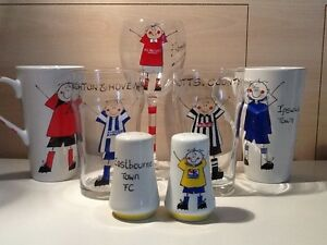 Hand Painted Football Pint/Wine Glass. Pick Your Team. (Personalise For Free)