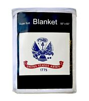 """U.S. Army Flag Fleece Blanket NEW 50""""x60"""" United States Armed Forces Throw Cover"""
