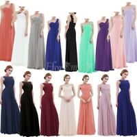 Women' Chiffon Lace Long Dress Evening Formal Party Bridesmaid Ball Gown Prom