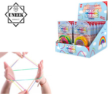 Rainbow Magic doigt Chaîne Corde Art Chats Berceau Kids Fidget Game UK