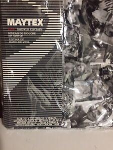 "Maytex Vinyl Shower Curtain Vintage Hollywood Size: 70"" x 72"""