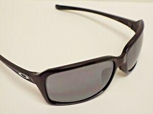Authentic Oakley OO9233-02 Dispute Polished Black Black Iridium Sunglasses $200
