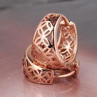 Hollow 18K rose gold filled LOVELY sweet heart lady earring