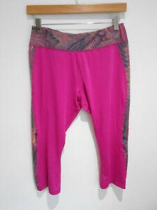New Balance pink patterned cropped capri gym workout running leggings XL 16
