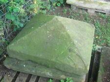 großes altes Kapitell, Sandstein - Abdeckung, Säulenabschluss             X17-93