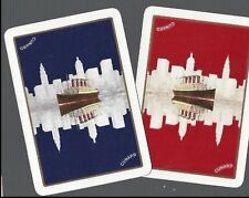 Swap Playing Cards 2  VINT  WIDE CUNARD LINE  SHIPPING STEAMSHIP  ADVT  S47