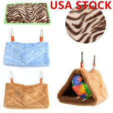 Pet Bird Parrot Plush Hammock Snuggle Hut Tent Bed Toy Cage Hanging Cave #US