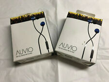 AUVIO 3301601 BLUE METAL EARBUDS W/MIC (LOT OF 2) ***NIB***
