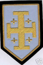 Holy Land Cross Sepulchre Medieval Crusades Knight Battle Sheild War Patch Hre X