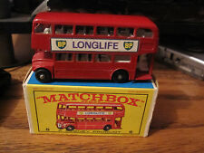 Vintage 1965 Matchbox Lesney #5 London Bus Routemaster with Original Box