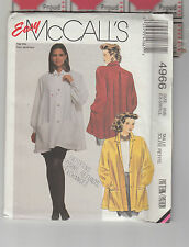 McCALLS  4966 pattern blouse jacket tent full Sz 6 8 uncut folded unused