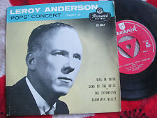 "Leroy Anderson 'Pops' Concert Part 2 Brunswick ‎OE 9357 UK 7"" Vinyl EP Single"