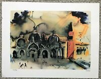 SALVADOR DALI LIMITED EDITION LITHOGRAPH ON PAPER PLATE SIGNED NUMBERED VENICE