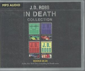 J D Robb In Death Series Books 26-29 Strangers Salvation Promises Kindred 4 MP3s