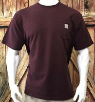 Carhartt Men's 2XL Pocket Tshirt Red Short Sleeve Cotton Original Fit K87 PRT