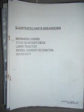 BERNARD tracteur BL 1338 LTDA : parts breakdown