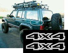 1993 94 95 96 JEEP XJ CHEROKEE 4X4 REAR DECAL STICKER EMBLEM BADGE OEM X2 SET