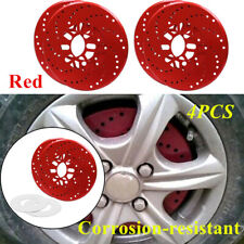 4X Car Aluminum Alloy Wheel Brake Disc Cover Decorative Rotor Cross Drilled Tool