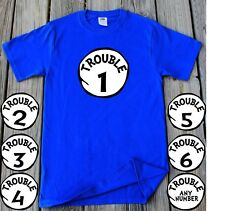 Trouble 1 2 3 4 5 6 T-shirt Customized Any Number