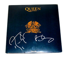 QUEEN BRIAN MAY ROGER TAYLOR SIGNED GREATEST HITS II VINYL RECORD LP w/COA BAND