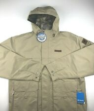 Columbia Mens 2XL Brown South Canyon Waterproof Omni Tech Long Jacket NWT $120