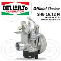 CARBURATORE DELL'ORTO SHB 16.12 N CON STARTER MODIFICATO PIAGGIO VESPA 50 FL / V