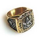 Masonic rings ebay Past Master Freemason Ring / Masonic Ring - Gold Plated Steel