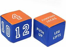 Special Supplies Fitness Dice Soft Plush (2-Pack) Rolling Exercise Cubes -...