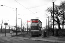 PHOTO  1957 LEEDS SHOWBOAT TO ROUNDHAY HERE IN LEEDS 'SHOWBOAT' CAR 161 PREPARES